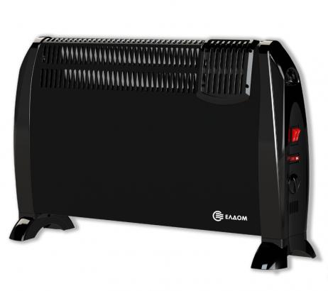 Подов конвектор с вентилатор 2kW - черен