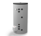 Kombi-Standspeicher 200L, mit zwei parallel Wärmetäuschern, emailliert
