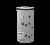 Boiler mixt 150L fixate pe podea, un schimbător de căldură, gestionarea electronică, emailat