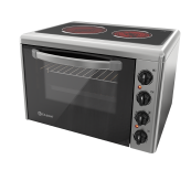 Cooker with pyroceramic glass top 201VFB