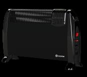 Convector de sine statator cu ventilator incorporat 2kW - μαύρο