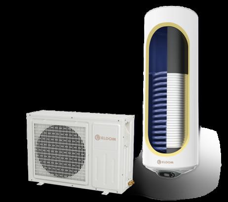 Термопомпен бойлер 120л., със соларна серпентина, емайлиран