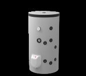 Boiler mixt 150L fixate pe podea, un schimbător de căldură, emailat