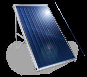 Flache Sonnenkollektoren