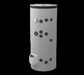 Kombi-Standspeicher 200L, mit zwei Wärmetäuschern, elektronische Steuerung, emailliert