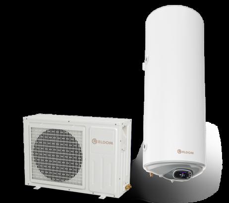 Термопомпен бойлер 150л., със соларна серпентина, неръждаем