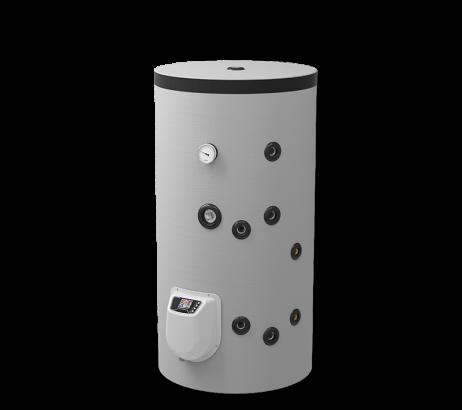 Бойлер стоящ 150 л. една серпентина, електронно управление, емайлиран
