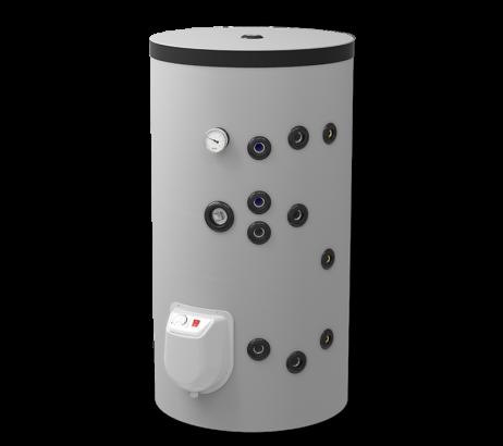 Комбинированный напольный водонагреватель 150л, с двумя теплообменниками, эмалированный