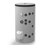 Kombi-Standspeicher 150L, mit zwei Wärmetäuschern, emailliert