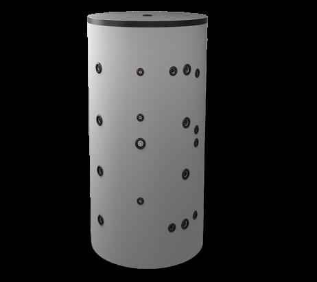 Неемайлиран буферен съд 1000 л. с две черни и една неръждаема серпентина